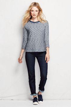 Marled Embellished Sweatshirt | Lands' End