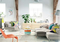 ikea 2015 We move on to the living then. Ikea 2015, Ikea Living Room, Living Spaces, Small House Interior Design, House Design, Design Design, Ikea Catalogue 2015, Söderhamn Sofa, Ikea Couch