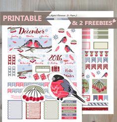 SALE DECEMBER Monthly Printable sticker by BunnyInFlightPlanner