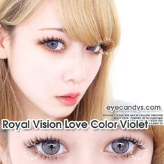 Royal Vision Color Contacts Our in-house brand of exclusive Royal Vision contacts deliver beauty and function in one easy-to-use multitasking tool. Choose from natural styles for office ladies to fun, colorful styles for party-goers. Dark Blue Eyes, Blue Green Eyes, Gray Green, Blue Brown, Cosmetic Contact Lenses, Coloured Contact Lenses, Eye Shadow Application, Desu Desu, Colored Eye Contacts