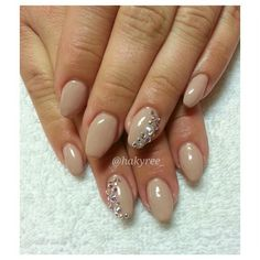 Akzéntz Luxio 'Whisper' with Swarovski Crystals sculpted squaletto gel nails ♥ Follow me on Instagram @hakyree_