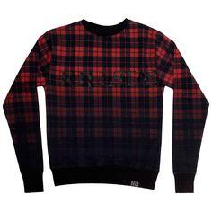 Tartan Sweatshirt [MULTI] Blood to Black plaid. | KILLSTAR