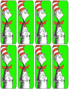 Cat & the Hat Bookmarkers
