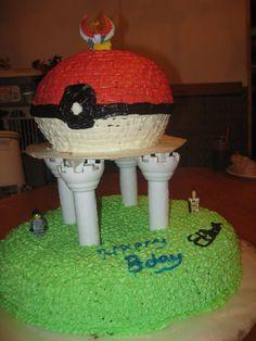 Pokemon/lego cake