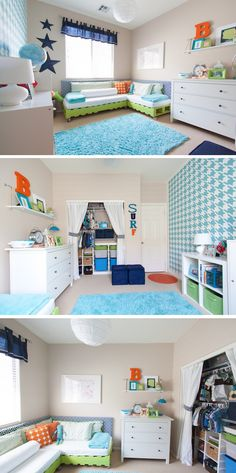 Budget friendly Toddler Boys DIY Room Makeover via @petitepartypins