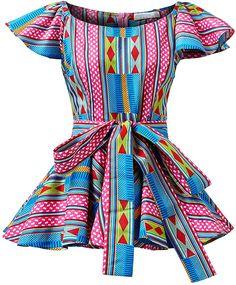African Fashion Ankara, Latest African Fashion Dresses, African Dresses For Women, African Print Dresses, African Print Fashion, African Attire, African Wear, African Prints, African Print Peplum Top