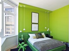 D cor vert lime sur pinterest chambres coucher vert - Chambre vert et gris ...