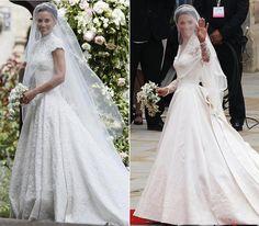 Los 7 grandes parecidos entre las bodas de Pippa y Catherine Middleton