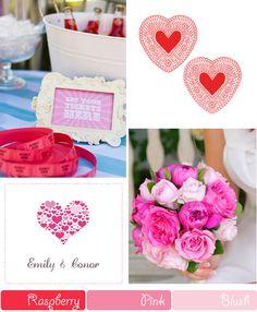 Valentines Day Raspberry Blush Wedding