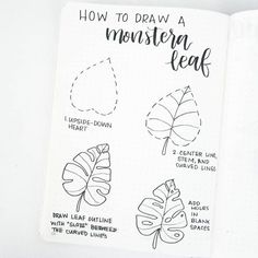 Drawing Doodles Sketches Hi friends, glad to be back posting! Here's a simple tutorial to draw a monstera leaf. Play with the shape and the number of slots and… - Hole Drawing, Leaf Drawing, Drawing Art, Feather Drawing, Bullet Journal Ideas Pages, Bullet Journal Inspiration, Bullet Journal Leaves, Bullet Journal Numbers, Doodle Drawings