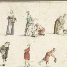 Figuurstudies, Gesina ter Borch, 1648 - Rijksmuseum