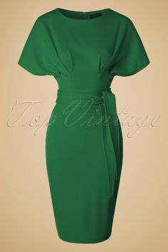 Vintage Chic - 50s Hannah Kimono Dress in Green