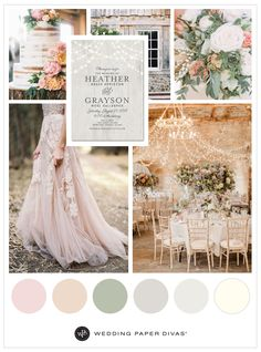 Kick off your cowboy boots for this romantic, blush barn wedding. Today's inspiration dresses a rustic venue with blush florals, flowy fabrics and dazzling bistro lights. It's a wedding for a couple who loves to mix rustic and elegance.