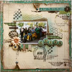 Such a Pretty Mess: Technique Tuesday: Layered Stamping {With Bo Bunny Background Stamps!} #scrapbook page