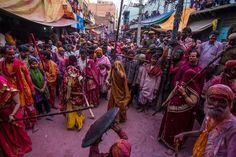 Lathmaar Holi at Barsana Photo by Shantanu Saha -- National Geographic Your Shot