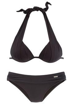 #Triangel-Bikini - Das Dekolleté-Wunder: Triangel-Bikini von LASCANA mit wattierten Cups und eingearbeiteten Kissen für ein traumhaftes Dekolleté – optisch sofort einen Cup größer. Hose mit Umschlagbund vorn gefüttert. Aus 90% Polyamid, 10% Elasthan. Futter: 100% Polyamid.