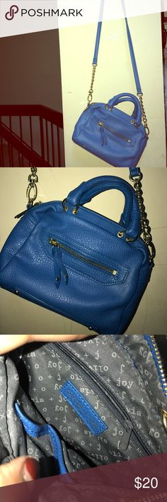 Blue Cross body purse Bright electric blue cross body with gold chains Olivia + Joy Bags Crossbody Bags