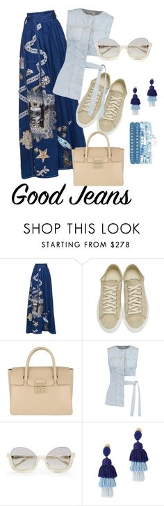 """""""Good jeans"""" by styleociety ❤ liked on Polyvore featuring Diemme, Furla, Acne Studios and Oscar de la Renta"""