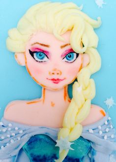 Hand painted & handmade by Stace. Hand Painted Cakes, Cupcake Cakes, Elsa, Disney Characters, Fictional Characters, Disney Princess, Lady, Handmade, House