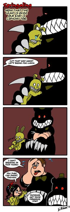 This is a joke. So, please don't be upset, this isn't a serious crossover</i> AGH! Goldie! What have you done?! Don't you know that crossovers are forbidden?! Especially with fnaf?!