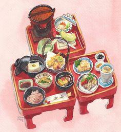 Cake Vector, Food Doodles, Cute Food Drawings, Food Plus, Food Sketch, Watercolor Food, Food Painting, Korean Art, Kawaii Art