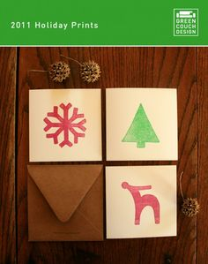 Make stamps for cute and unique Christmas cards!