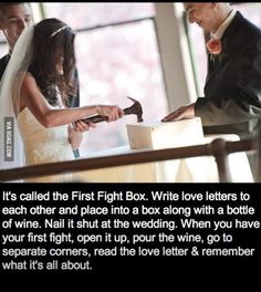 Great idea for the first rough patch in a marriage.
