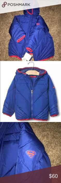 NWT Baby Gap X Junk Food superman puffer jacket New with tags and never worn Toddler Boy 2T puffer jacket | no odors/ no stains / no tears | shop with confidence please check out my ratings | no trades GAP Jackets & Coats Puffers