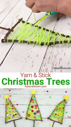 Kids Crafts, Halloween Crafts For Toddlers, Button Crafts For Kids, Elderly Crafts, Fun Diy Crafts, Kids Diy, Craft Stick Crafts, Stick Christmas Tree, Christmas Fun