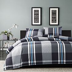 Teen boy bedding sets superheroes inspired sheets for those who are children at heart. In this teen bedding boy ideas can make your kids inspired Plaid Comforter, Grey Duvet, Twin Comforter Sets, King Duvet Cover Sets, Teen Bedding, King Comforter, Duvet Covers, Queen Duvet, Comforter Cover