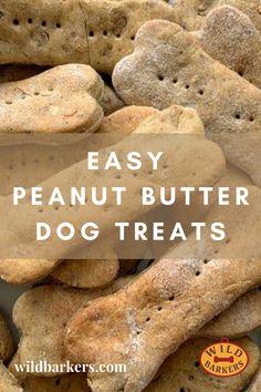 Easy Dog Treat Recipes, Homemade Dog Treats, Healthy Dog Treats, Dog Biscuit Recipes, Puppy Chow Recipes, Dog Food Recipes, Puppy Treats, Puppy Food, Peanut Butter Dog Treats