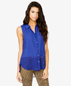 Love this color contrast! - Royal Blue and leopard print #amazing