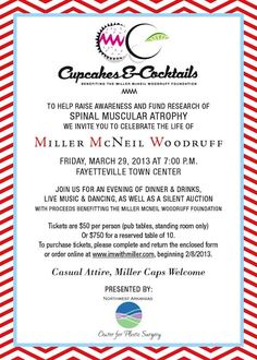 Cupcakes and Cocktails benefiting the Miller McNeil Woodruff Foundation