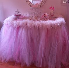 tutu table skirt, can make these too, make great decorations for girls rooms or for birthday parties