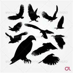 eagle tattoo silhouettes