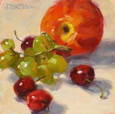 """""""Summer Fruit"""" - Original Fine Art for Sale - © Karen Werner"""