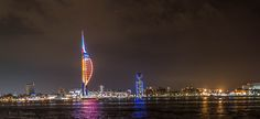 Gunwharf Quays Night by Paul Thurston