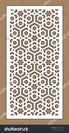 Laser Cutting Arabesque Vector Panel Template For Interior Islamic Art Pattern, Pattern Art, Pattern Design, Cnc Cutting Design, Laser Cutting, Geometric Designs, Geometric Art, Arabesque, Decorative Metal Screen