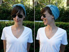 3 unique ways to tie a scarf: bow, head wrap, & turban