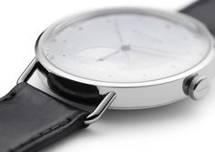 Wire lugs have a long tradition in the world of fine watches. Metro wears them—in a most elegant and modern way. Fine Watches, Wire, Traditional, Elegant, Modern, Leather, Accessories, Gnomes, Glass