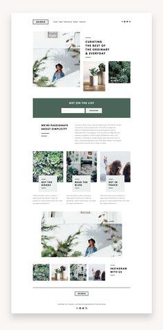 Acadia Squarespace Kit — Station Seven: Squarespace Templates, WordPress Themes, and Free Resources for Creative Entrepreneurs - Design - Website Design Inspiration - Minimal Web Design, Ui Ux Design, Dashboard Design, Layout Design, Logo Design, Website Design Layout, Web Layout, Website Designs, Flat Design