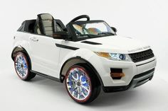 Range Rover Evoque Style Ride-On Car by Moderno Kids - Front Side View
