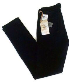 NWT Miraclebody Women's Skinny Minnie Jeans Licorice Black Slim Fit Denim New #Miraclebody #JeansSlimSkinny