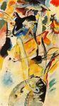 """Pintura con tres manchas"", oleo de Kandinsky (1866-1944, Russia)"