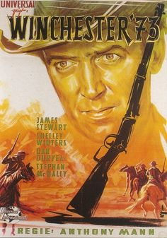 Winchester '73 is a 1950 American Western film directed by Anthony Mann and starring James Stewart, Shelley Winters, and Stephen McNally. Written by Borden Chase and Robert L. Richards, the film is about the journey of a prized rifle from one ill-fated owner to another and a cowboy's search for a murderous fugitive. The movie features early film performances by Rock Hudson as an American Indian, Tony Curtis, and James Best.