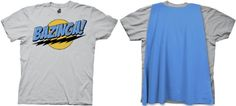Big Bang Theory Bazinga! Cape Mens Tee (Medium Platinum)