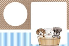 Montando a minha festa: Cachorrinhos Marrom & Azul