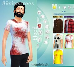 """Susu my dear Simmers! WOW!I absolutely love the new Sims 4 CAS Cloner!It's so easy to use and it looks so good and you can even take a first look of your edited item before you put it into the game!What do you think of my new shirt?Bloody cool, hah? xDI'm thinking about doing one with """"Don't worry, it's not my blood"""" on itFeel free to download it hereIt's non default as well. Leave a comment or like if you want ♥ Have fun with it and happy simming!"""
