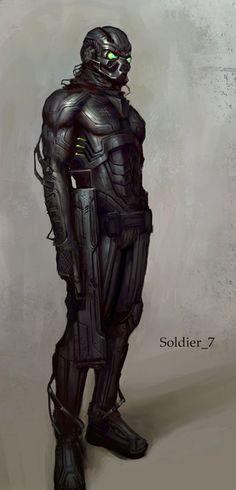 Soldier Drawing Illustration by Jon McCoy, armor, future, futuristic, cyber… Fantasy Art Men, Fantasy Armor, Sci Fi Fantasy, Futuristic Armour, Futuristic Art, Gundam, Character Inspiration, Character Art, Character Design