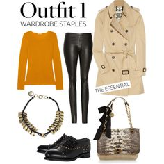 """""""Wardrobe Staples: Outfit 1"""" by netaporter on Polyvore"""